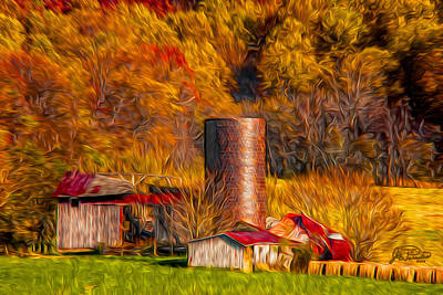 Middleburg Silo And Outbuildings Art Print
