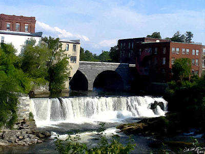 Middlebury Painting - Middlebury Falls by Walter Odell III