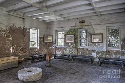 Photograph - Middleton Place Rice Mill Interior by Dale Powell