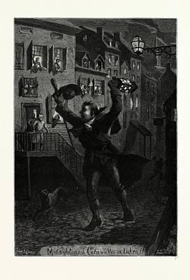 Midnight And Cornwallis Is Taken Art Print by Irish School