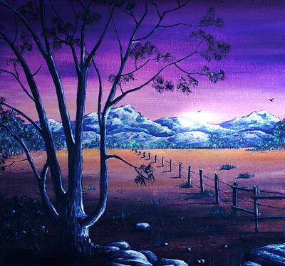 Painting - Midnight At The Border by Anastasiya Malakhova