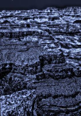 The Natural World Digital Art - Midnight At The Grand Canyon by Thomas Woolworth