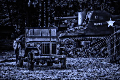Midnight Battle And All Is Quite On The Front Lines Art Print by Thomas Woolworth