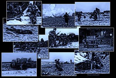 Skirmish Digital Art - Midnight Battle Collage by Thomas Woolworth