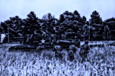 Skirmish Digital Art - Midnight Battle In The Fields by Thomas Woolworth