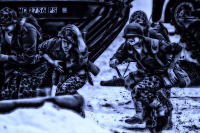 Skirmish Digital Art - Midnight Battle Take Cover by Thomas Woolworth