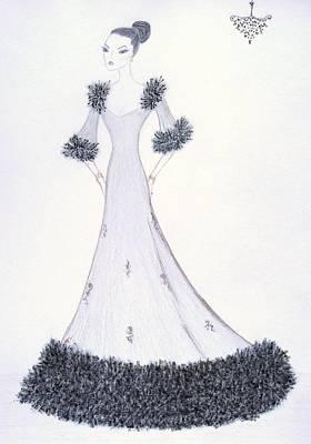Midnight Chiffon Art Print by Christine Corretti