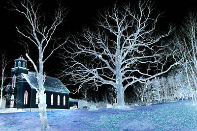 Midnight Country Church Art Print