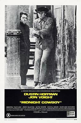 Dustin Hoffman Photograph - Midnight Cowboy  by Movie Poster Prints