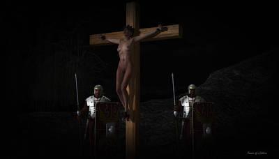 Midnight Crucifixion Print by Ramon Martinez