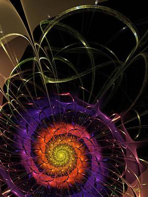Digital Art - Midnight Dahlia by Kiki Art
