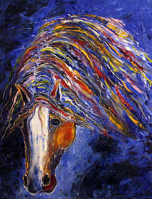 Colorful Horse Painting - Midnight Dreams by Jennifer Godshalk