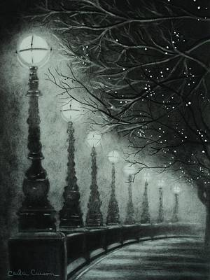 Drawing - Midnight Dreary by Carla Carson