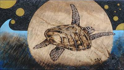 Pyrography Pyrography - Midnight Fight by Bea Israel