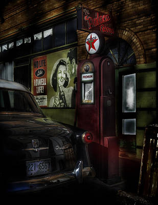 Midnight Fill Up Art Print by Gary Warnimont