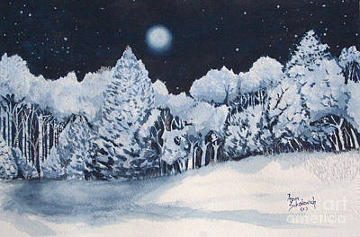 Midnight Frost Print by Ann Sokolovich