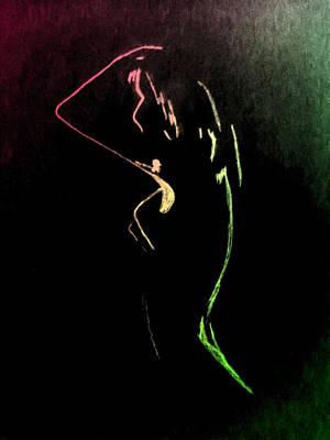 Midnight Glow 1 Art Print by Erica  Darknell