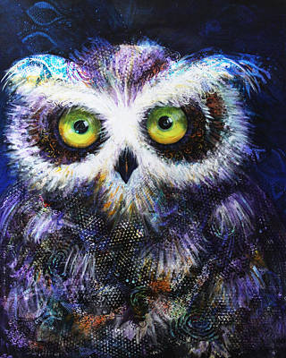 Painting - Midnight Hoot by Laurel Bahe
