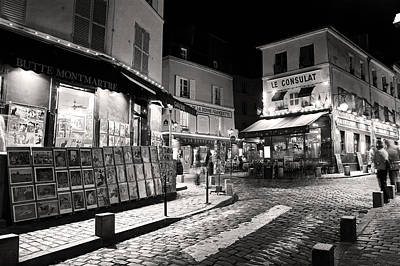 Photograph - Midnight In Montmartre Paris by Pierre Leclerc Photography