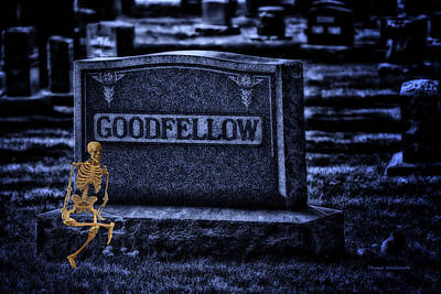 Compadres Photograph - Midnight In The Graveyard With A Goodfellow by Thomas Woolworth