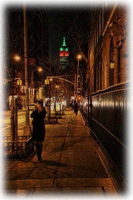 Photograph - Midnight In The Shadow Of The Empire State by Lee Dos Santos