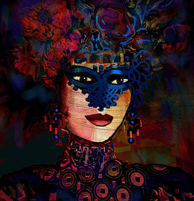 Mixed Media - Midnight Lady by Natalie Holland
