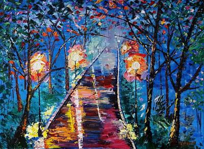 Midnight Lights Art Print by Kevin  Brown