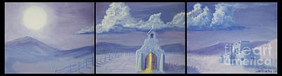 Landmarks Painting Royalty Free Images - Midnight Mass Royalty-Free Image by Jerry McElroy