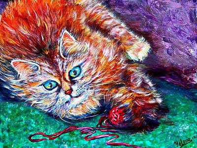 Dream Painting - Midnight Mischief  by Yelena Rubin