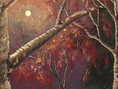 Midnight Moonlight  Art Print