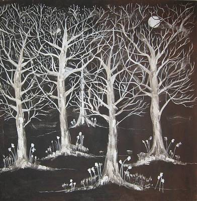 Midnight Mystery Forest Art Print by Diane Pape