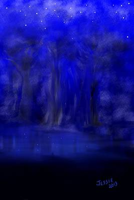 Painting - Midnight Oasis by Jessica Wright