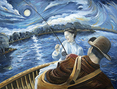 Midnight On The Water Original by Paula Blasius McHugh
