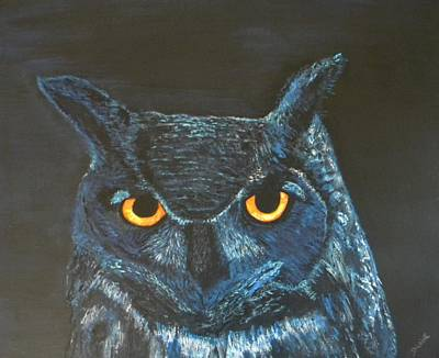 Painting - Midnight Owl by Denise Hills