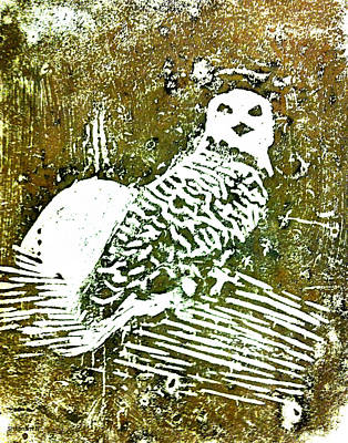 Midnight Owl Art Print by Shabnam Nassir