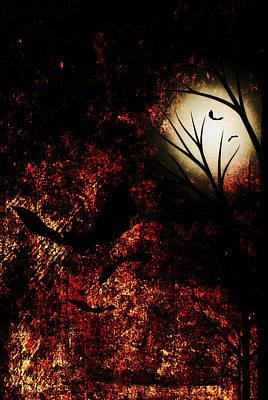 Under The Moon Wall Art - Digital Art - Midnight Sky by Chastity Hoff