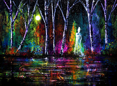 Rainbow Painting - Midnight Spirit by Ann Marie Bone