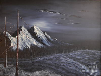 Art Print featuring the painting Midnight by Stuart Engel