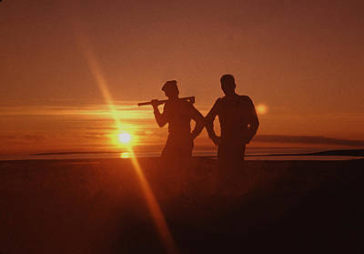 Photograph - Midnight Sun 1955 by George Cousins