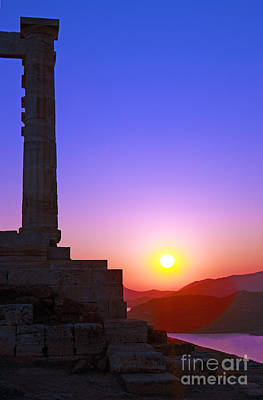 Sounion Photograph - Midnight Sun by Lynne Sutherland
