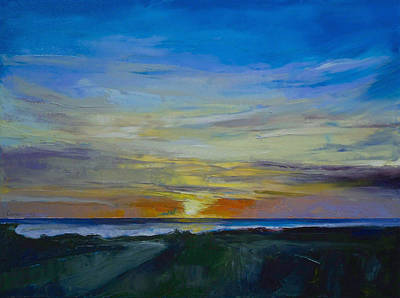 Impasto Oil Painting - Midnight Sun by Michael Creese