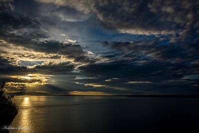 Midnight Sun Over Cook Inlet Art Print by Andrew Matwijec
