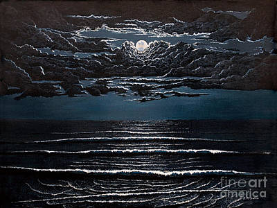 Painting - Midnight Surf by Jeff McJunkin
