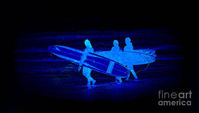 Photograph - Midnight Surfers by Steve McKinzie