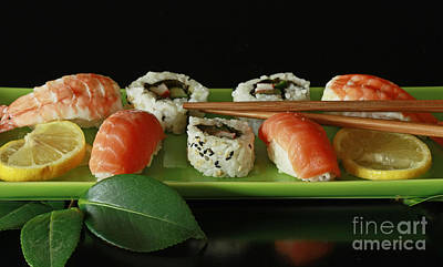 Midnight Sushi Indulgence Art Print by Inspired Nature Photography Fine Art Photography