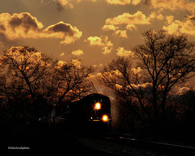 Photograph - Midnight Train Ride by TnBackroadsPhotos