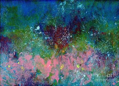 Midnight's Garden Art Print by P J Lewis