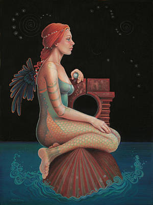 Pearls Mixed Media - Midnight Seer by Susan Helen Strok