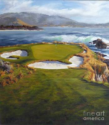 7th Hole Painting - Midsummer Dream by Shelley Cost