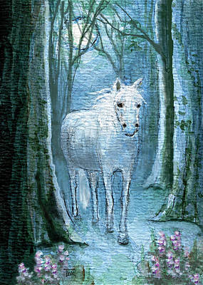 Art Print featuring the painting Midsummer Dream by Terry Webb Harshman